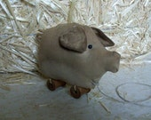 Primitive Pig Pull Toy Pattern, - 404, HAFAIR