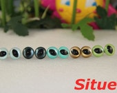 5  pairs 12mm  fantasy Color CAT Safety  eyes for needle felted animal-1 pair for each color