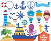 Sailor and Captain Clip Art ---- Personal and Small Commercial Use ---- BB 0411