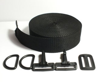 belt strap bag kit exchangeable black, 4 cm depth
