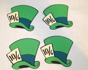 Mad Hatter Hat set of 4