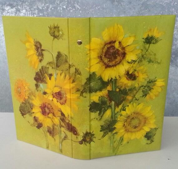 Hallmark Wedding Album: RESERVED FOR AMANDA Vintage Sunflower Photo Album Hallmark
