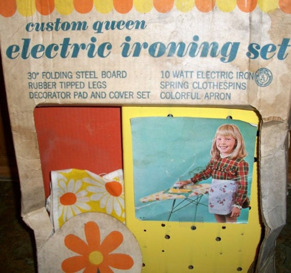 Vintage Gabriel Industries Custom Queen Electric Ironing set with the original box Collectible Display