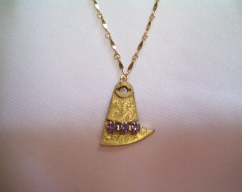 Vintage BALANCE COCK Guilloche Engrave Etch Pocket Watch Part Vintage Swarovski UNIQUE Pendant Necklace by DKsSteampunk