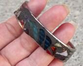 Mosaic Silverware Art Bracelet