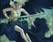 Battle Angel Guardian Illustration 12x15 - SALE
