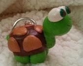 Polymer Clay Turtle Keychain