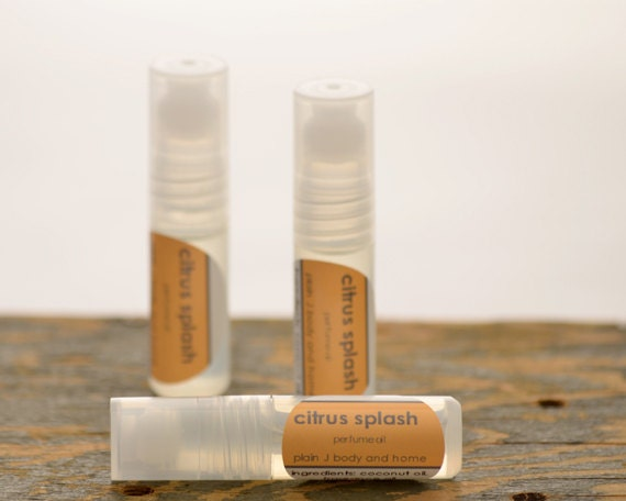 SALE - Citrus Splash Perfume Oil Roll On - fresh fruit blend perfume oil