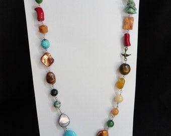 semi-precious stones necklace