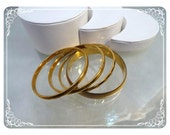 Goldtone Bangle Bracelets -  Vintage Lot Signed -   Brac-1068a-120312000