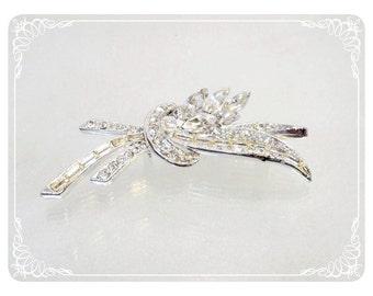 Rhinestone Bouquet Vintage Brooch - 1883a-121812000
