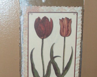 Recycled Wall Art- Spring Tulip Catalog Print- made from recycled seed catalog image!