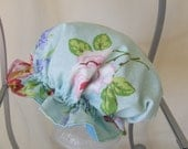 Vintage rose inspired print shower cap