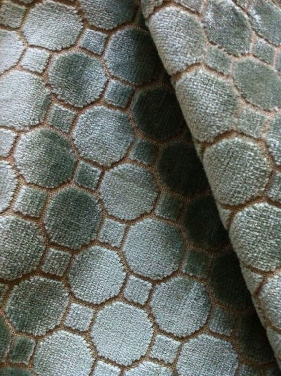 Items similar to designer fabric remnant octagon velvet for Fabric remnants