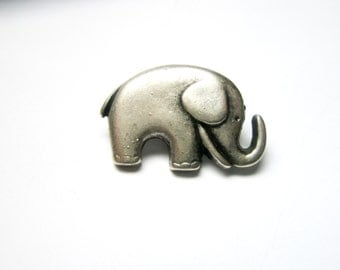 Baby Elephant silver pin-lucky Brooch Wildlife  Free gift with purchase