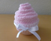Light Pink Fuzzy Sock Cupcake