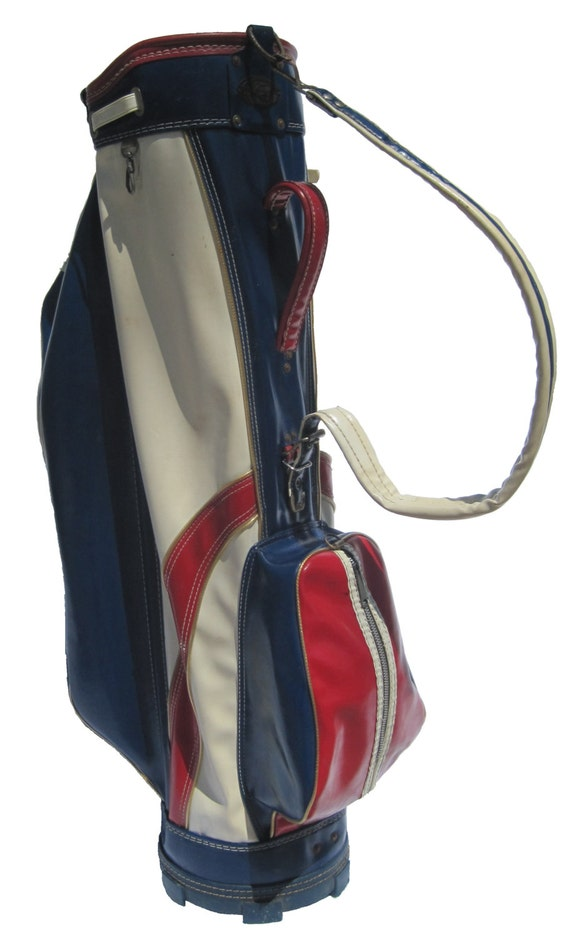 Vintage Golf Bag Ajay Brand Richard Hamilton Red White And