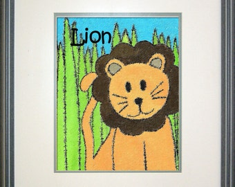 "Safari Lion Digital Print Download - 8"" x 10"""