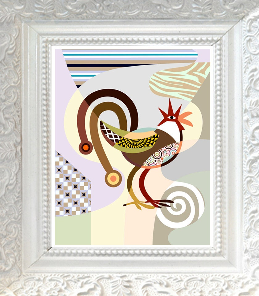 Rooster kitchen decor rooster wall art rooster wall by - Rooster wall decor kitchen ...