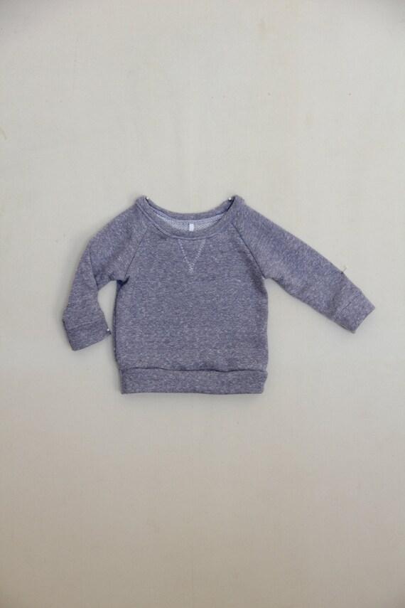 handmade baby crew neck sweatshirt // custom order size and color