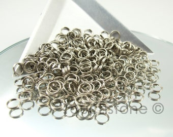 6mm Antique Silver Plated Split Rings 300 Pieces #-