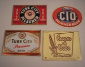 Pre - 1955 Ephemera - Tube City Brewing Co., McKeesport, PA. - 4 Beer Labels