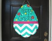 Bright, Chevron Easter Egg Door Hanger