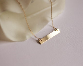 bar necklace-gold bar necklace
