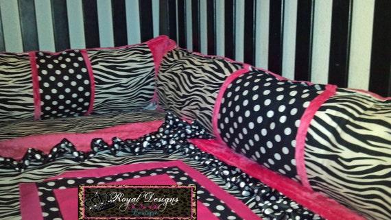 Items Similar To Custom Zebra Print And Polka Dot With Hot