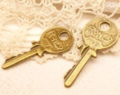 Master Lock Key Charm, Life Sized, Antique Bronze (4) - A121