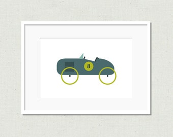 Modern toy car prints, vintage car, nursery decor, kids room decor, modern nursery art, children's art print, colorful nursery art