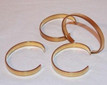 Brass Bracelet Cuff Blanks For Jewelry Making .25 inch Pkg Of 4