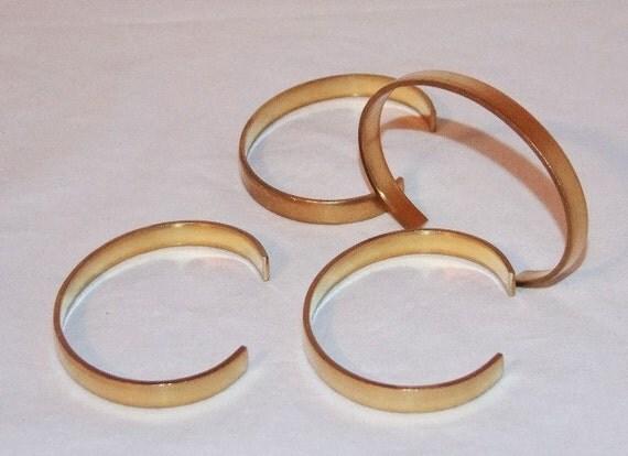 brass bracelet cuff blanks for jewelry making 25 inch pkg of