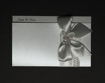 Lace wedding invitations - vintage lace wedding invitation - traditional wedding invitation - boxed wedding invitation - white wedding
