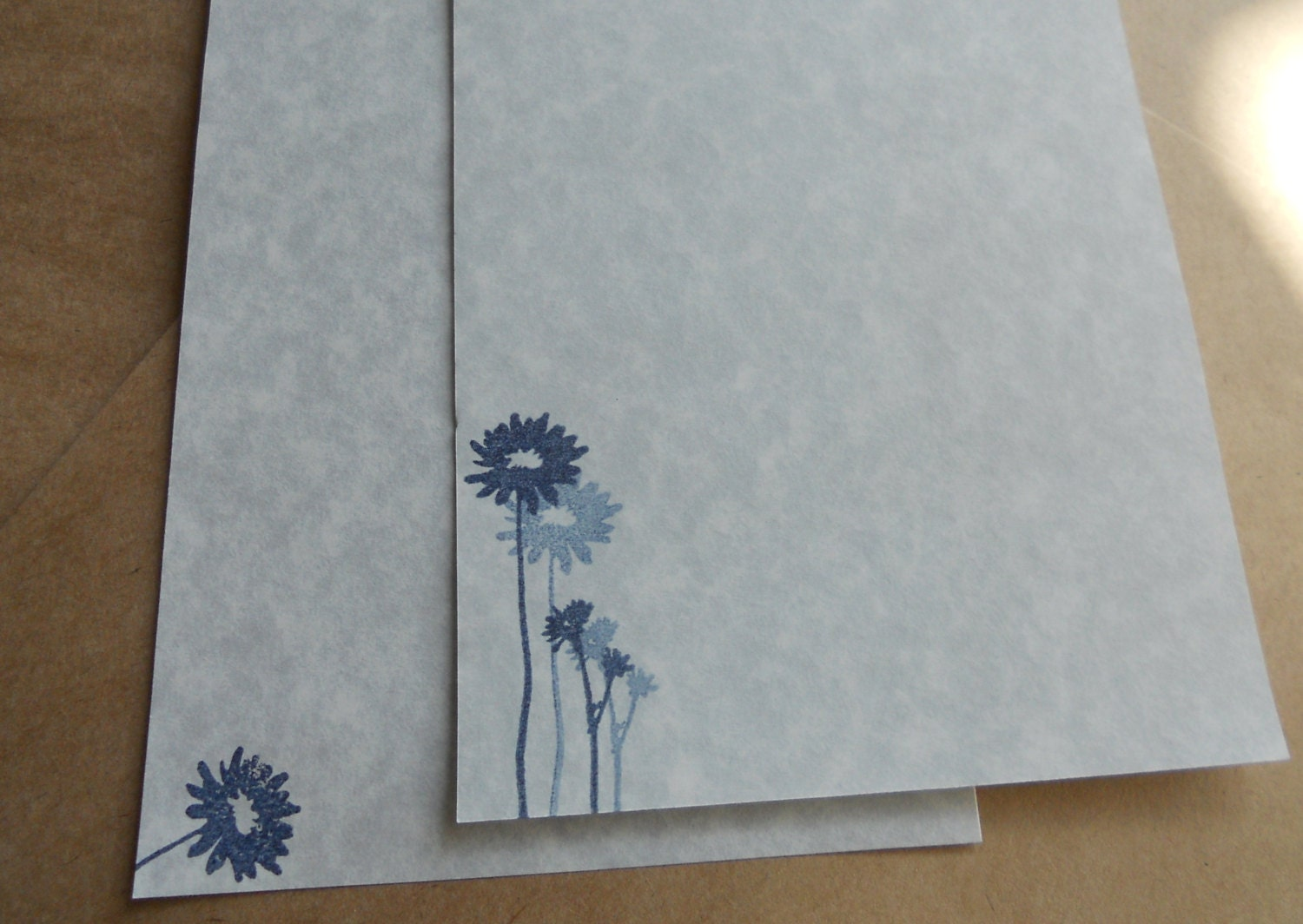 Blue Parchment Paper Stationery Set Writing By