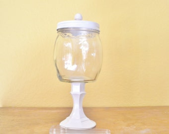 Custom - One Apothecary Jar / Glass Candy Jar on Pedestal