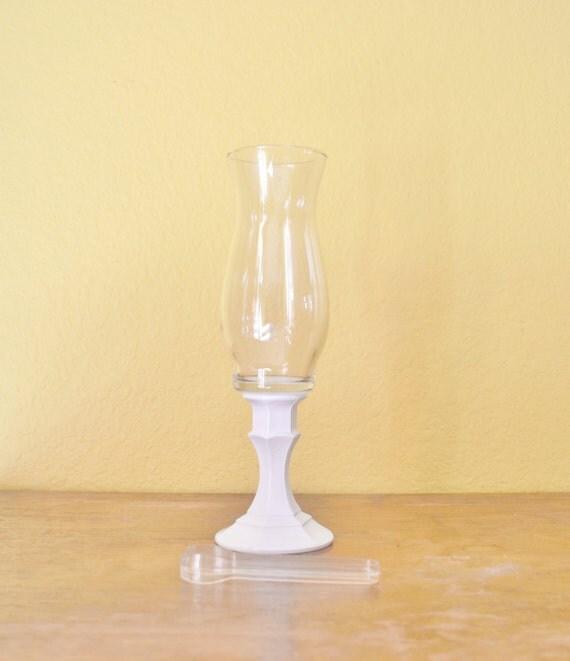 Custom - One Flower Vase / Hurricane Candle Holder on Pedestal Base