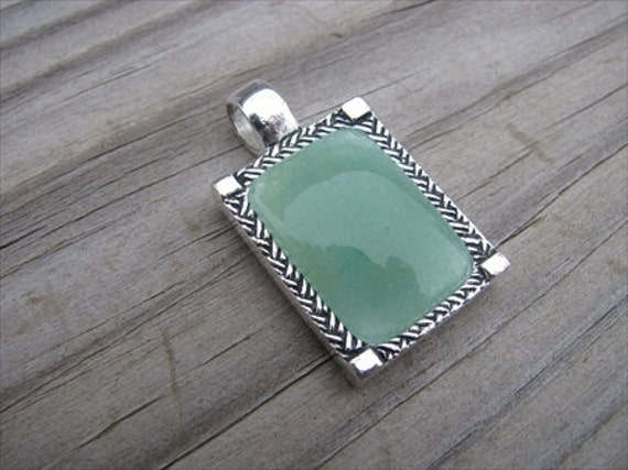 Silver and Green Pendant- ONLY 1 AVAILABLE