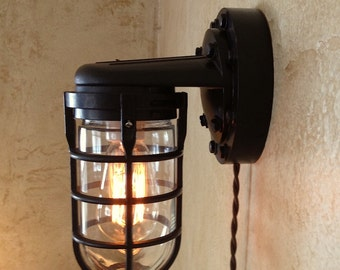 Vintage Industrial Explosion Proof Style Edison Sconce Lamp.