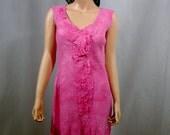 SALE Nuno felted pink dress OOAK wool and silk