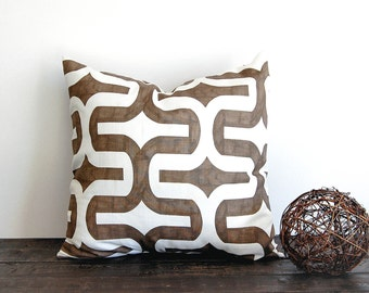 Brown pillow cover One cushion cover Italian Brown pillows brown throw pillows Embrace