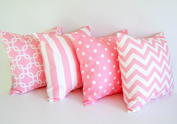 Four throw pillow covers 18 x 18 Four cushion by ThePillowPeople