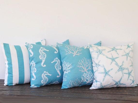 Items similar to Coastal Blue pillow cover 16