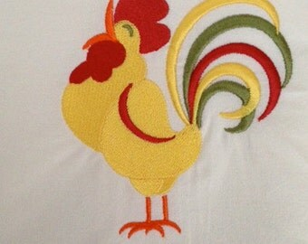 Large Cotton Flour Sack Dish Towel Embroidered
