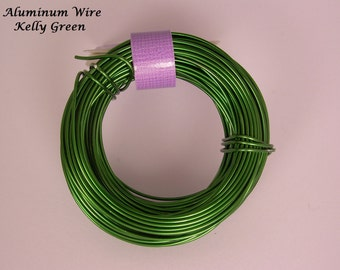 Anodized Aluminum 18ga wire 39 Ft Kally Green Color Soft