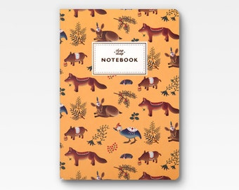 Forest Animals Notebook - Yellow -