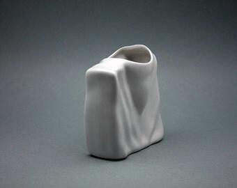 White glazed porcelain vase by Eschenbach