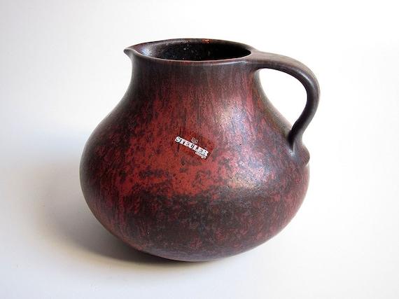 Large jug / handled vase by Steuler (West German Pottery)
