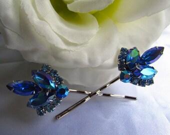Sapphire Blue Bridal Hair Comb,Blue Bridal Hair Accessories, Blue Wedding Hair Pins, Blue Wedding Hair Comb, Blue Wedding Hair Accessories