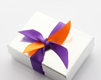 White and Silver Gift Box
